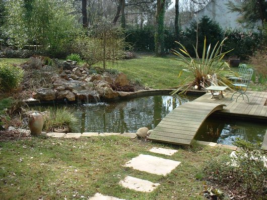 Agr menter un bassin de jardin bassin de jardin for Photo bassin de jardin